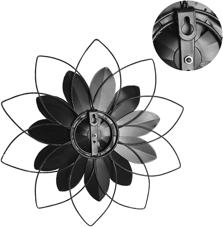 """13/"""" Blue Large Metal Flower Decor Wall Hanging Decorations Indoor or Outdoor Wall Art Sculptures H HOMEBROAD"""