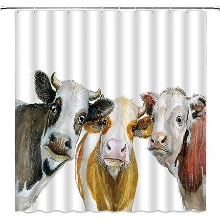 Old Style Bathroom Sets shower curtain Animal Bohemian Bathroom art Cows Ilustration Home decor S#93 Gift Art Bath