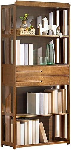 Étagère bibliothèque 4 étages support de fleurs chambre rack de stockage armoire de salon avec tiroir cadeau (Couleur   marron, Taille   28  149  42CM)