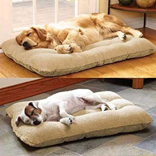 Bloodyrppa Pet Dog Bed with Removable Cover for Puppies, Cats, Beige