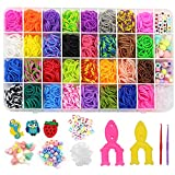 1700+ Loom Bands in 32 Variety Colors, Loom Bracelet Refill Set with Premium Quality Accessories for Kids Boys & Girls, Rubber Bands Bracelet Kit