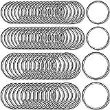 schlüsselringe 25mm edelstahl,runder schlüsselringe,Metall Split Ring,schlüsselanhänger ringe 100er Set