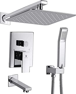 HIMK Shower System, Shower Faucet Set with Tub Spout and 10