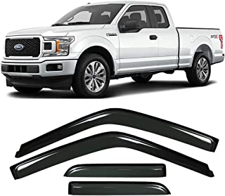 Gevog 4-Piece Side Window Deflector Original Window Visors for 15-19 Ford F150 Extended Cab Sun Rain Guard Ventvisor 94974