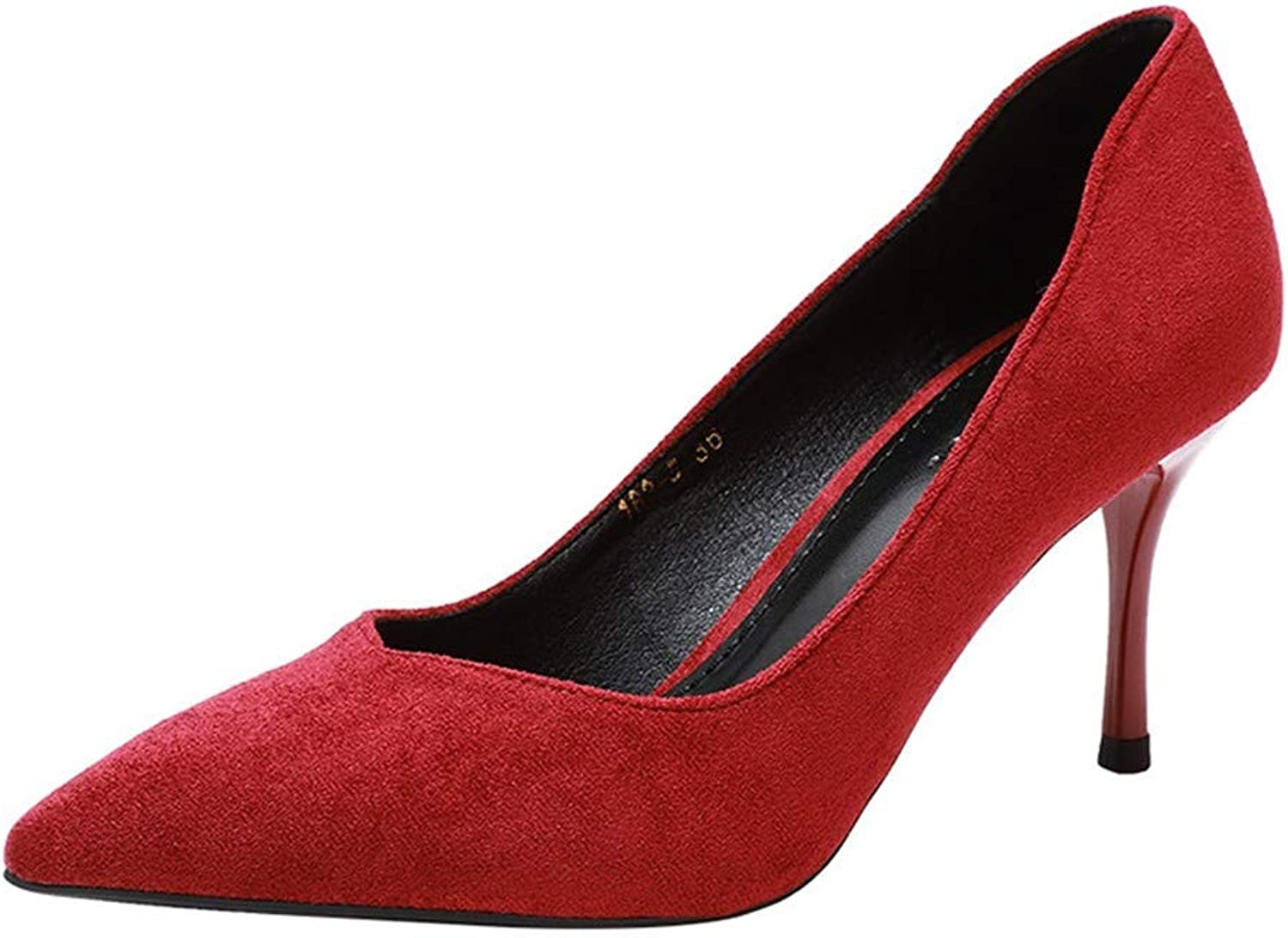 Top Shishang Red Work Pointed high Heels Female Stiletto Shallow Mouth shoes