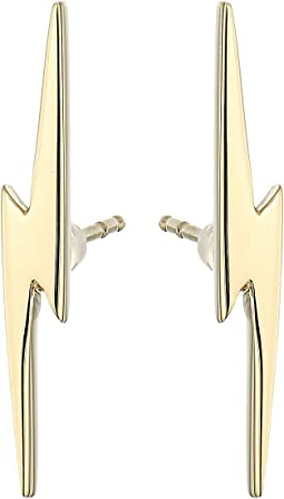14K Yellow Gold Bolt Stud Earrings
