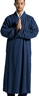 Men's Long Gown Traditional Buddhist Meditation Monk Robe