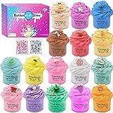 Pack de 16 Slime Kit, Fluffy Butter Slime para niños y niñas, muy elástico y no mallas.