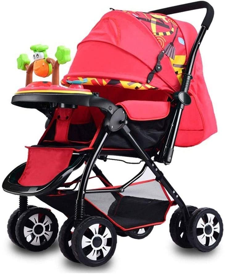 high Landscape Suitable for Traveling and Shopping Compact Travel Trolley Portable Foldable Color : B Childrens Trolley with Universal Wheels LXJ Stroller