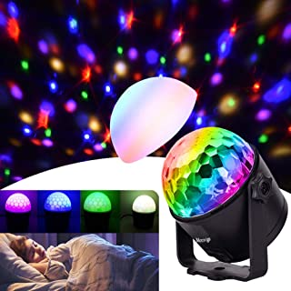 Party Lights Disco Ball Strobe Light Disco Lights, 6 Colors Updated with Remote Control Dj Lights Stage Light for Festival Bar Club Party Wedding Show Home