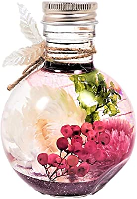 EternalLeaf ハーバリウム ホワイトガーデン 高さ約10cm 丸ボトル 2way ギフトボックス 花 おしゃれ かわいい プレゼント