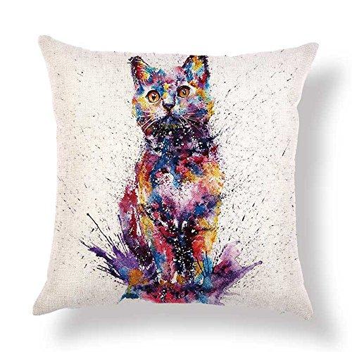 Connotation Carte Taie d/'Oreiller Coussin Housse Chaise Canapé Home Decor Pillow Cover
