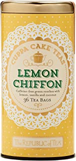 The Republic of Tea Lemon Chiffon Cuppa Cake Tea, 36 Tea Bags, Decadent Herbal Green Rooibos Tea