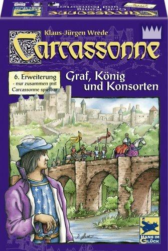 カルカソンヌ拡張セット6 川と王様と礼拝堂 (Carcassonne: Erweiterung 6: Graf, Konig & Konsorten) ボードゲーム [並行輸入品]