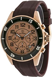 Watch by Olivera For Men, Chronograph, Rubber - OG668