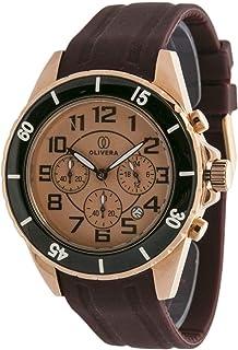 ساعة رجالية من أوليفيرا , كرونوجراف , مطاط - OG668