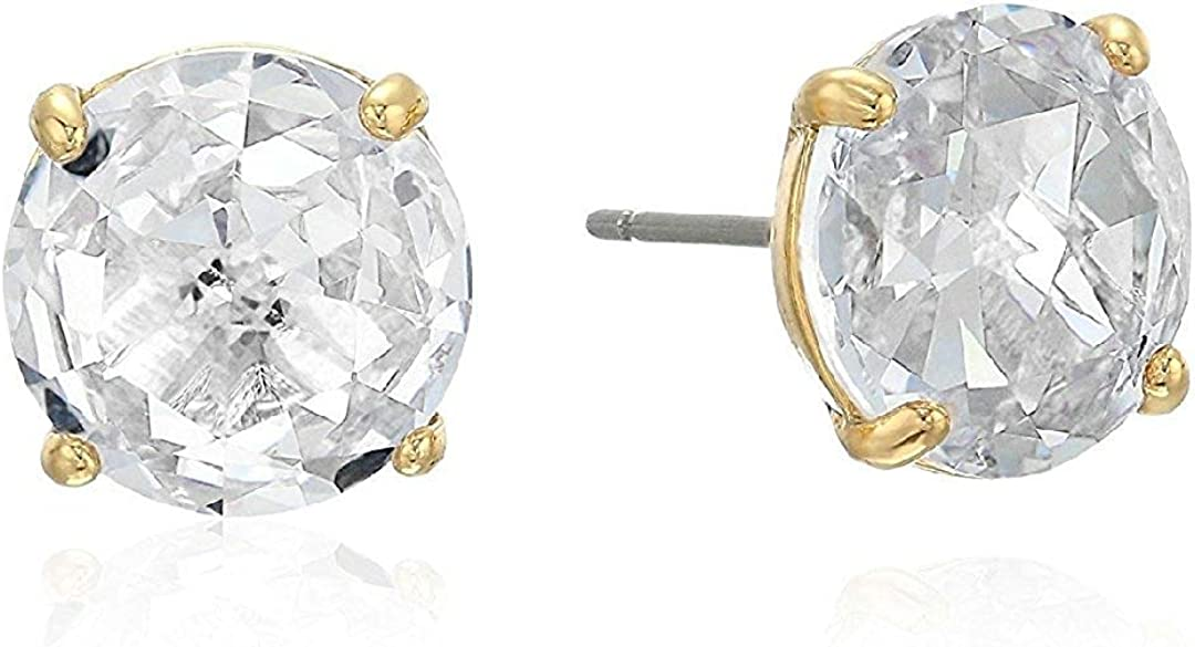Kate Spade Crystal Round Large Gold Stud Earring