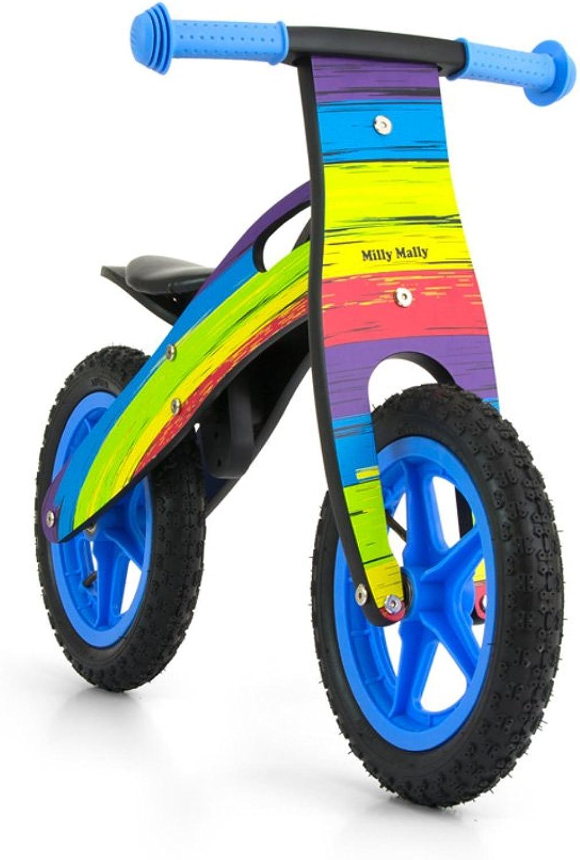 MILLY MALLY 22282 King Rainbow Balance Bike, MultiColour