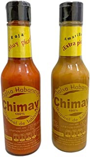 Chimay Habanero Sauce. Twin Pack containing: 1 bottle (5.07 fl oz) Very hot sauce and 1 bottle (5.07 fl oz) Extra hot sauce