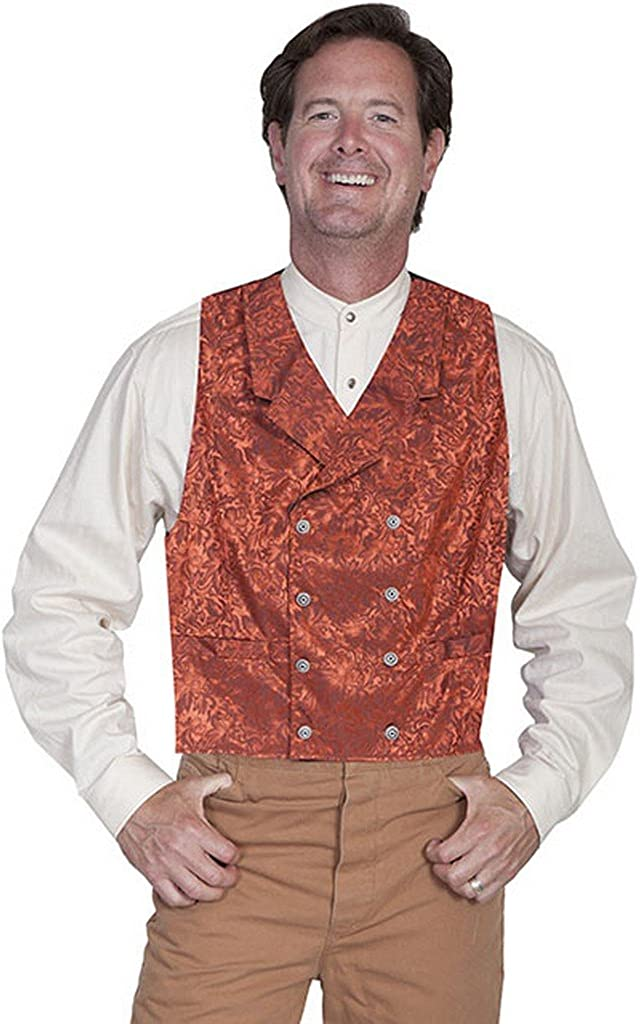 Scully Wahmaker Men's Wahmaker Floral Silk Double Breasted Vest Big and Tall - 535344X-Roy