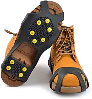 1 Paar Schuhspikes Schuh Spikes Eiskrallen Schneeschuhe Winterdienst 18 Zähne