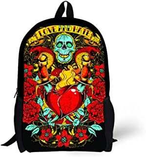 "Skull Cartoon Backpack for Boy School Bag for Teens Girls Book bag 16"" Daypack"