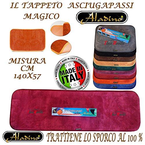 ALADINO Tappeto Magico 45x140 CM ASCIUGAPASSI ZERBINO L'Originale Antiscivolo Tanti Colori