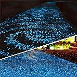 DIY Aquarium Fish Tank 1800 PCS Resina Luminosa Grava Brillante Piedras Suficientes para Cubrir Patio, Garden Rocks Outdoor Guijarros decoración pasarelas (Color : White)