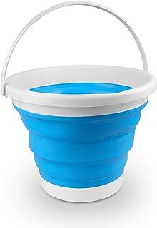 Seau pliable 10L, seau d'eau pliable portable avec poignée, seau rond en silicone pour cuisine, extérieur, camping, lavage...