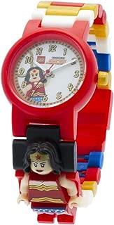 LEGO DC Comics 8020271 Super Heroes Wonder Woman Kids Minifigure Link Buildable Watch   blue/red   plastic   25mm case diameter   analogue quartz   boy girl   official