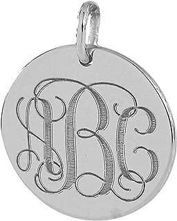 minimalist monogram charm necklace