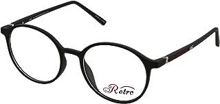 RETRO Unisex-adult Spectacle Frames Round 5205 M.Black/Red