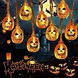 Cadena Luces Halloween, 30 LEDs Luces LED Halloween, Halloween Guirnalda Luces, Luces de Hadas de Pilas, Impermeable Luces de Cadena Decoración para Fiesta Halloween, Navidad, Interiores y Exteriores