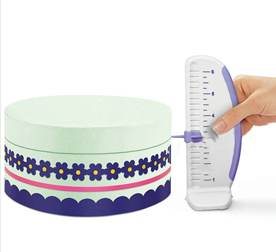 Cake Measuring Marker Draw Balance Ruler, KOOTIPS Pattern Decoration Line Cake Edge Side Decorating Tools