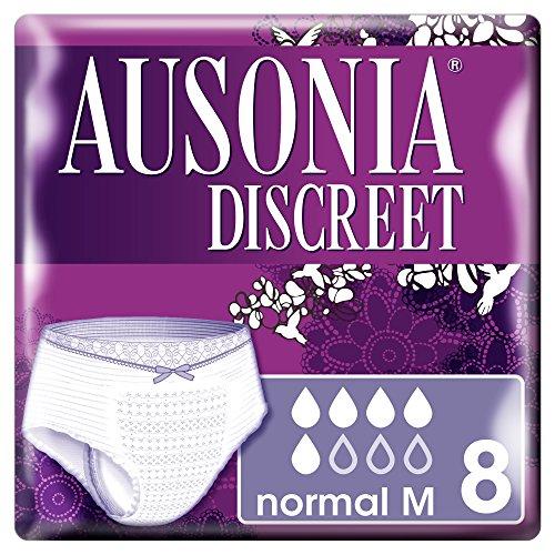 Ausonia Discreet - Protège slip normal taille M pour fuites urinaires - 8 pièces