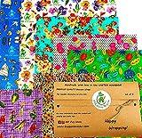 Envolturas de cera de abejas, juego de 6, colores aleatorios, BEE Zero Waste, UK HANDMADE, biodegradable, tapas ecológicas (Juego de 6)