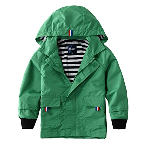 7646c4c0b79a9 Hiheart Boys Girls Waterproof Hooded Jackets Cotton Lined Rain Jackets