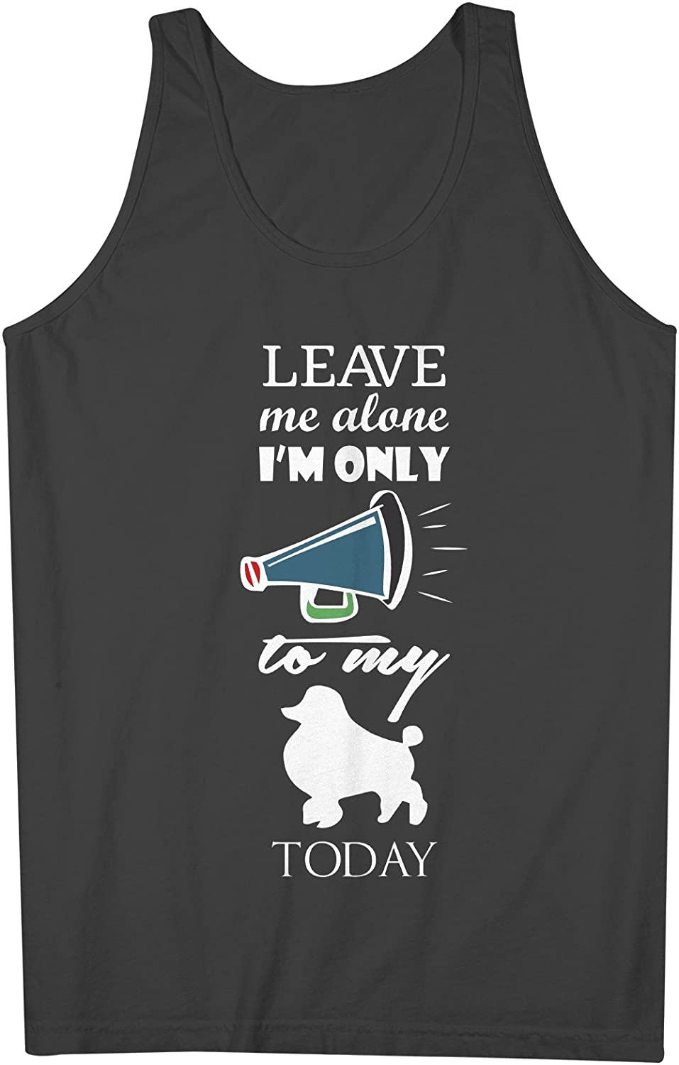 Leave Me Alone I'm Only Talking To My 犬s Today 男性用 Tank Top Sleeveless Shirt