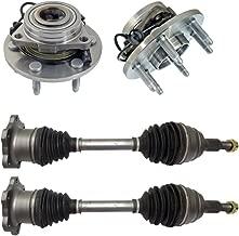 Detroit Axle - Both (2) Front CV Axle Drive Shafts + Both (2) Wheel Hub & Bearings 6-Lug W/ABS - for Chevy Silverado 1500, Tahoe & GMC Sierra 1500, Yukon- 10-Year Warranty…