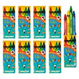 The Twiddlers 50 Sets di Pastelli a Cera Colorate Bambini - 4 Crayons per Scatola
