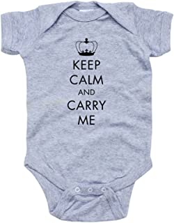 Apericots Cute Keep Calm and Carry Me Funny Unisex Short Sleeve Baby Bodysuit