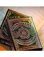 Theory 11 High Victorian Green Koleksiyon Kart Örtüsü, Yetişkinler için, Üniseks, Yeşil ve Altın
