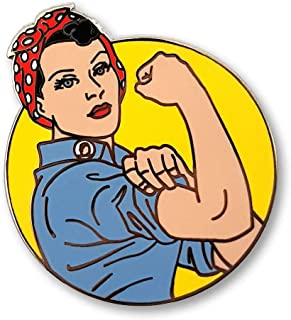 Pinsanity Rosie The Riveter Enamel Lapel Pin