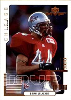 2000 UD MVP Football #192 Brian Urlacher RC Rookie Card Chicago Bears Official NFL Trading Card From Upper Deck