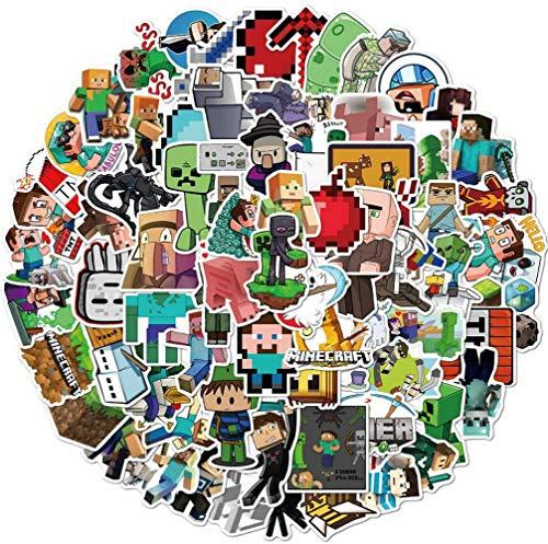 100PCS Minecraf_t Stickers Gaming Aufkleber Vinyl Laptop wasserdichte Aufkleber Wasserflasche Skateboard Aufkleber für Kinder Jugendliche Erwachsene…