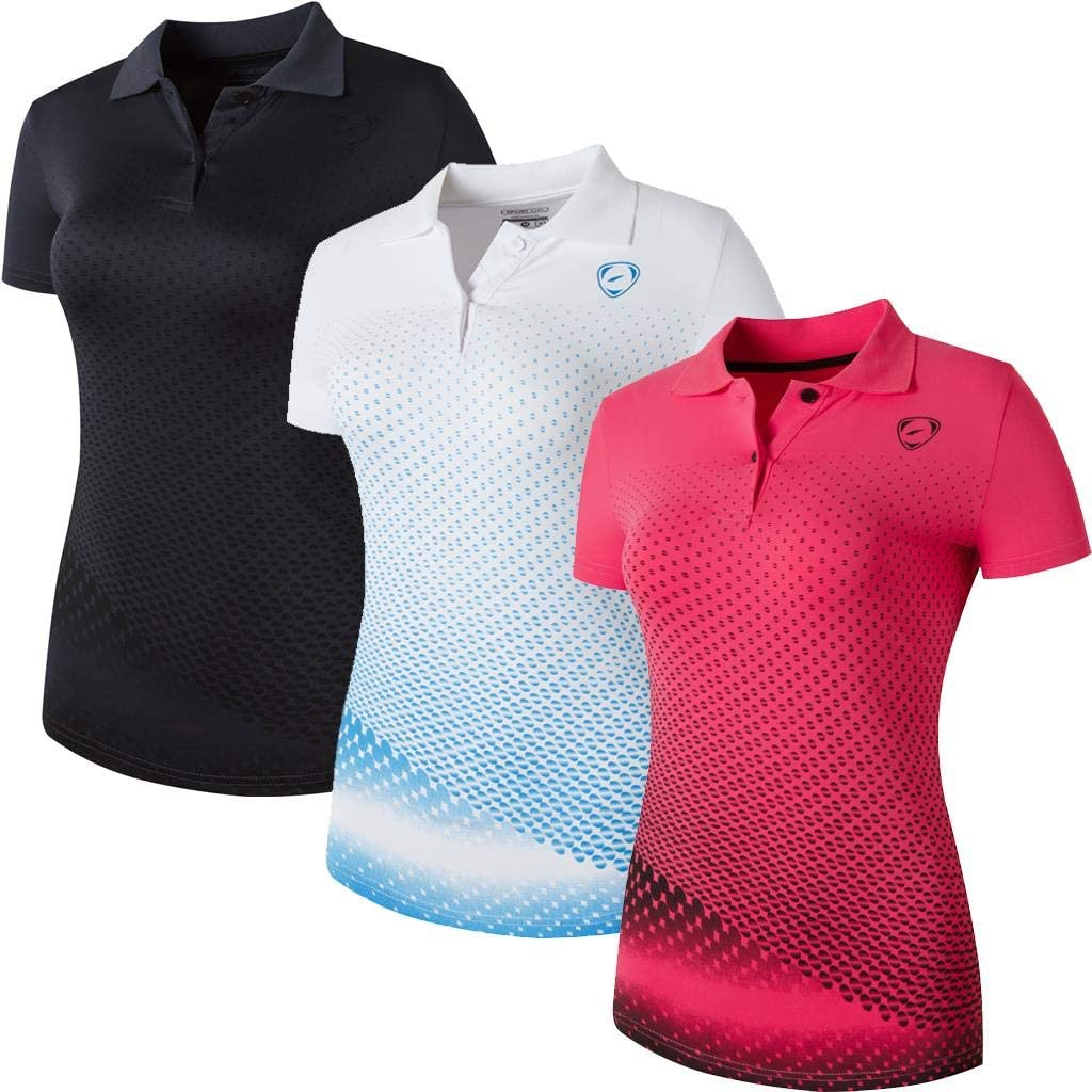 Max 66% OFF Sportides Women's 3 Packs Sport Dry T-Shirt Miami Mall Quick Polo SWT251