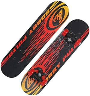 Mini Complete Skateboard-Beginner Skateboard 23.6 Inches Anime Speed and Passion Pattern Children Skateboard Pop Skateboard Cruiser