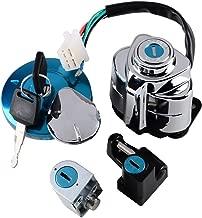 Set Ignition Gas Cap Steering Locks + Keys Fit Honda Shadow VLX 600 VT600 VT400 VT750 Steed VLX400 (Selected)