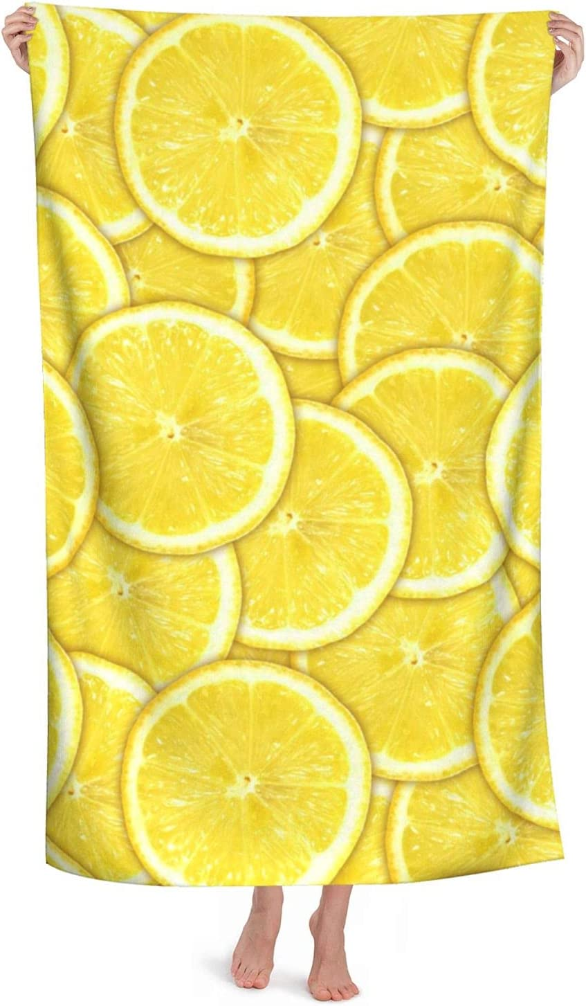 Midetoy Beach Rapid rise Towel Yellow Lemon Quick New product type Dry Slices To
