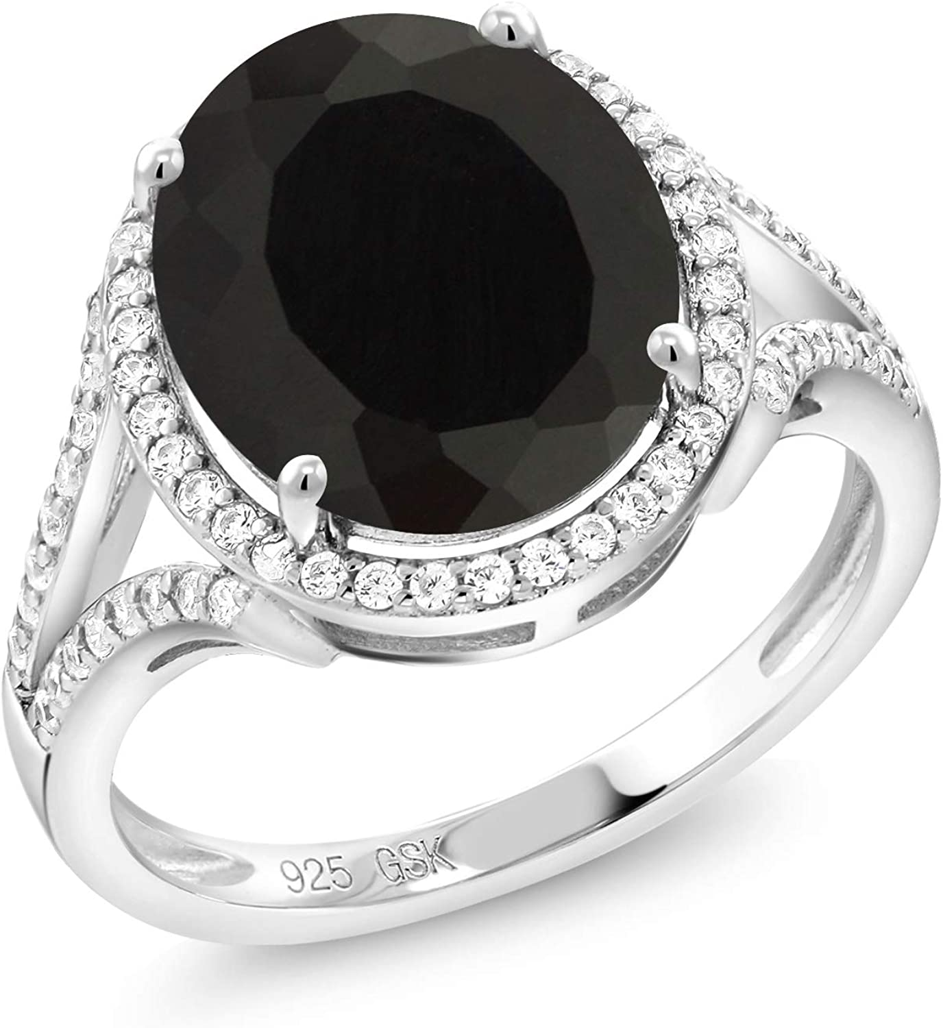Gem Stone King 925 Sterling Silver Black Max 65% OFF Onyx Max 59% OFF Ring Women's 4.82